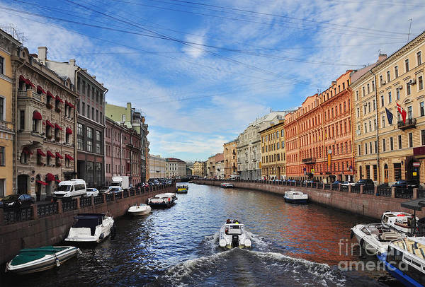 Wall Art - Photograph - Motor Boats On The Moika River by Yulia bogomolova