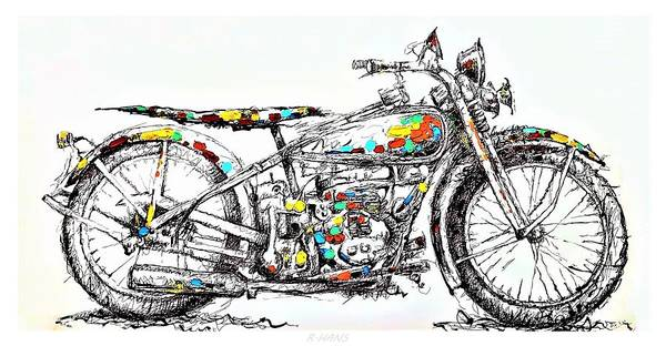 Photograph - Motor Cycle by Rob Hans