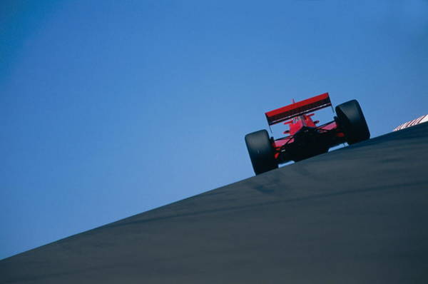 Motor Sport Photograph - Motor Racing, Car On Track, Rear View by Jamie Squire