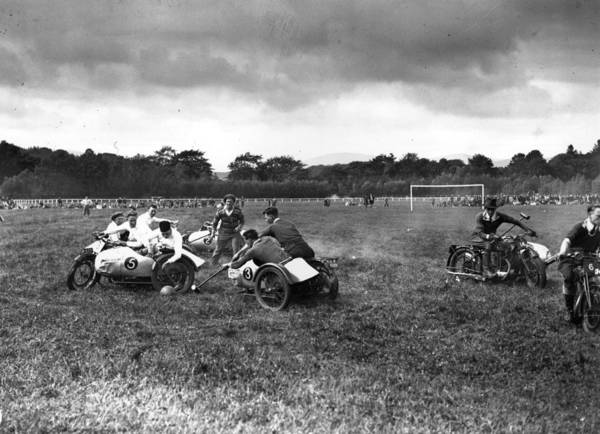 Motorcycle Racing Photograph - Motorbike Polo by Fox Photos