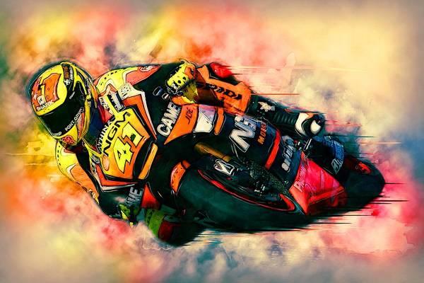 Wall Art - Painting - Motorbike Racer by ArtMarketJapan