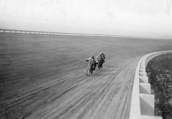 Motorcycle Racing Photograph - Motorbikes Racing At Speedway Park by Heritage Images