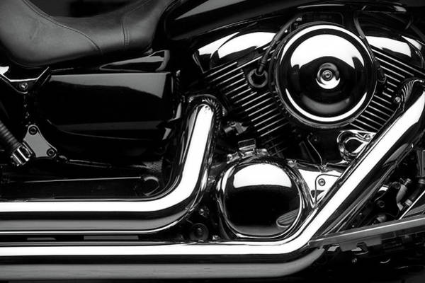 Chrome Engine Photograph - Motorcycle by 66north