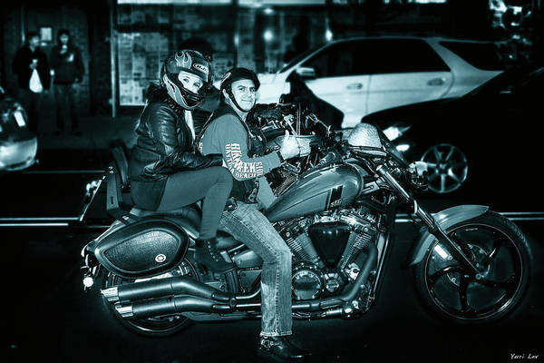 Wall Art - Photograph - Motorcycle Couple by Yuri Lev
