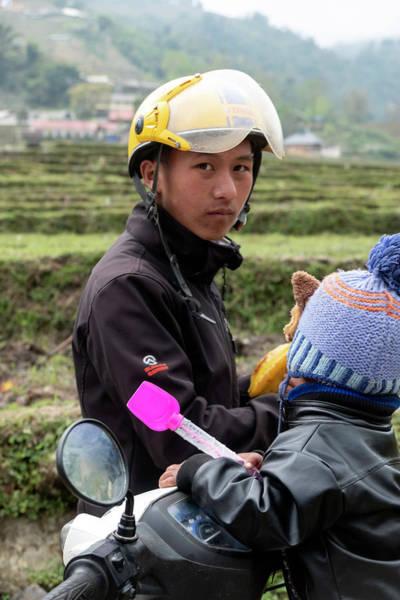 Wall Art - Photograph - Motorcycle Dad - Sa Pa, Vietnam by Madeline Ellis