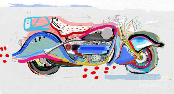 Wall Art - Digital Art - Motorcycle Image Which Consists Of by Dmitriip