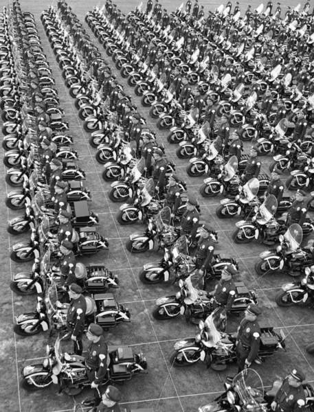 Police Force Photograph - Motorcycle Police by Loomis Dean