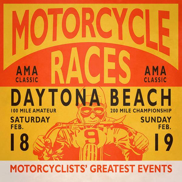 Photograph - Motorcycle Races Daytona Beach by Mark Rogan