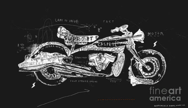 Wall Art - Digital Art - Motorcycle, Which Consists Of A by Dmitriip