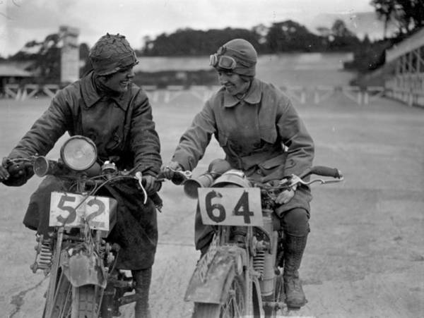 Motocross Photograph - Motorcycling Women by Kirby