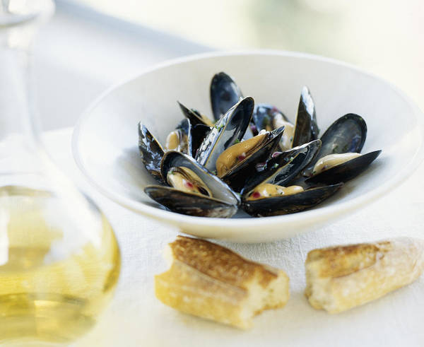 Wall Art - Photograph - Moules Mariniere With Baguette by David Roth