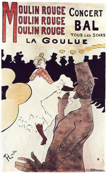 Wall Art - Painting - Moulin Rouge - 1891 - Pc 2 by Henri de Toulouse-Lautrec