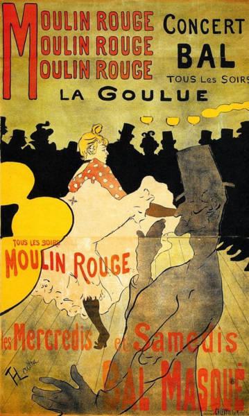 Wall Art - Painting - Moulin Rouge - 1891 - Pc by Henri de Toulouse-Lautrec