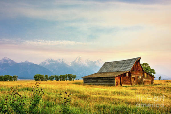 Photograph - Moulton Barn Against The Tetons by Paul Quinn