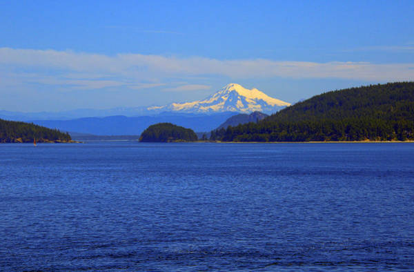 Camera Raw Photograph - Mount Adams From Puget Sound by Brenton Cooper