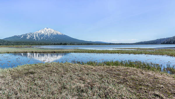 Photograph - Mount Bachelor And Sparks Lake Panorama by Belinda Greb