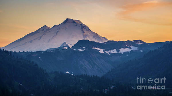 Wall Art - Photograph - Mount Baker Aerial Photography Sunset Light by Mike Reid