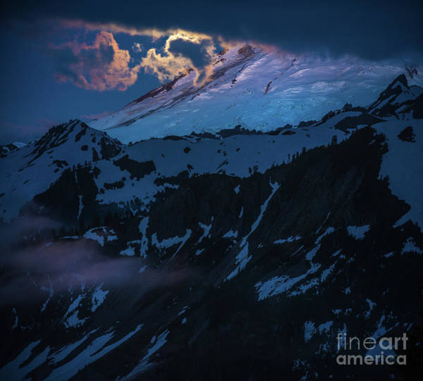 Wall Art - Photograph - Mount Baker Moonlight by Mike Reid
