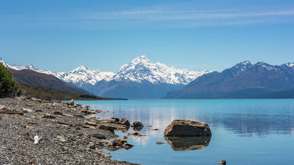 Photograph - Mount Cook From Lake Pukaki by Racheal Christian