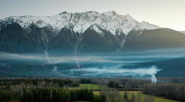 Wall Art - Photograph - Mount Currie And Smoke From Fire by Ben Girardi