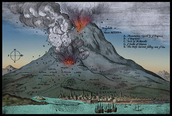 Wall Art - Photograph - Mount Etna Eruption, 1669 by Science Source