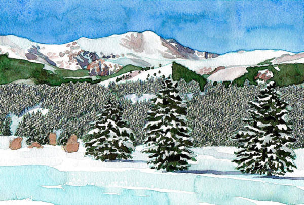 Mixed Media - Mount Evans Snowscape by Dan Miller