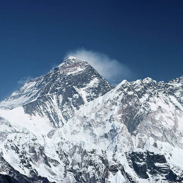 Wall Art - Photograph - Mount Everest And Nuptse by Hadynyah