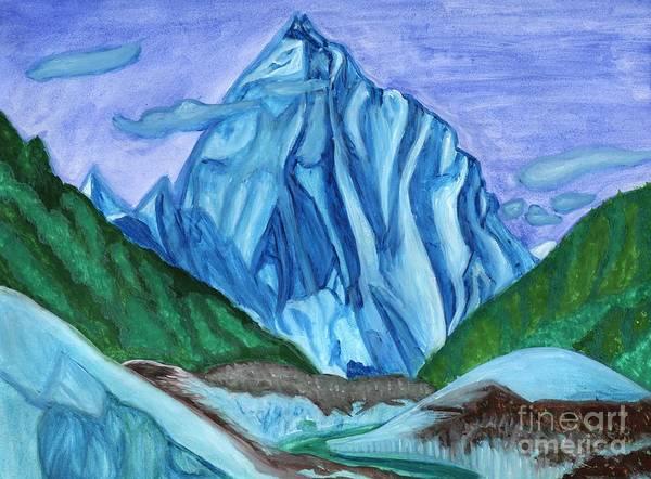 Painting - Snow Peak Above The Clouds by Irina Dobrotsvet