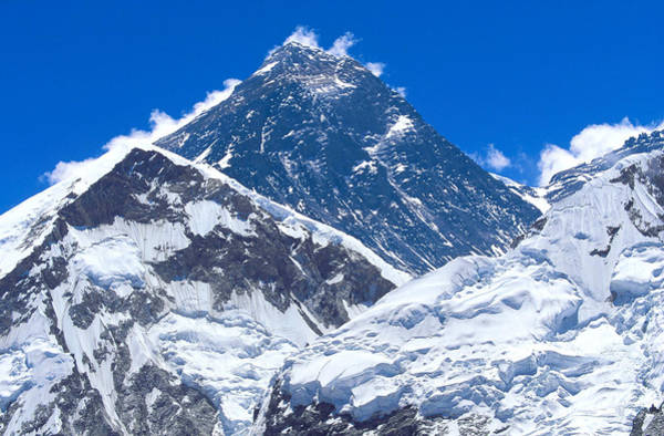 Nepal Wall Art - Photograph - Mount Everest, Everest Or Sagamatha by Martyn Colbeck
