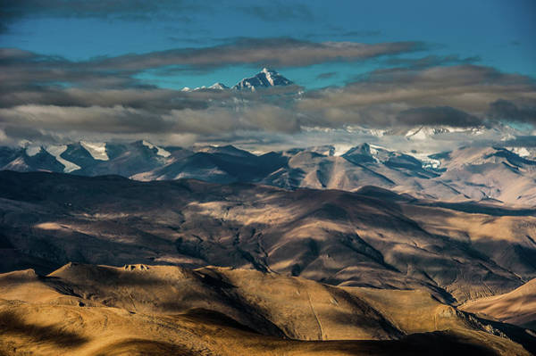 China Photograph - Mount Everest Scene Fromtibet Side by Coolbiere Photograph