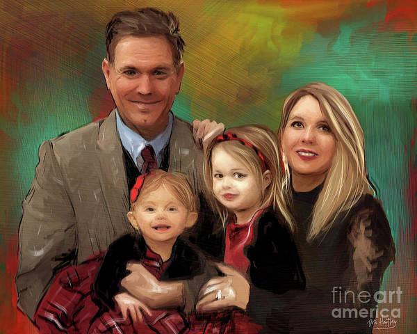 Mounted Digital Art - Mount Family Portrait 2018 by Dori Hartley