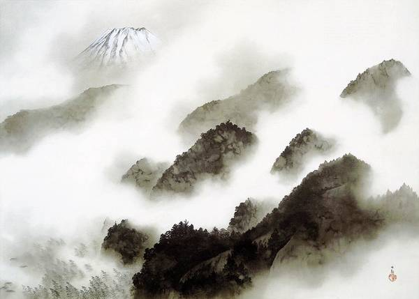 Wall Art - Painting - Mount Fuji - Ameharu - Top Quality Image Edition by Yokoyama Taikan