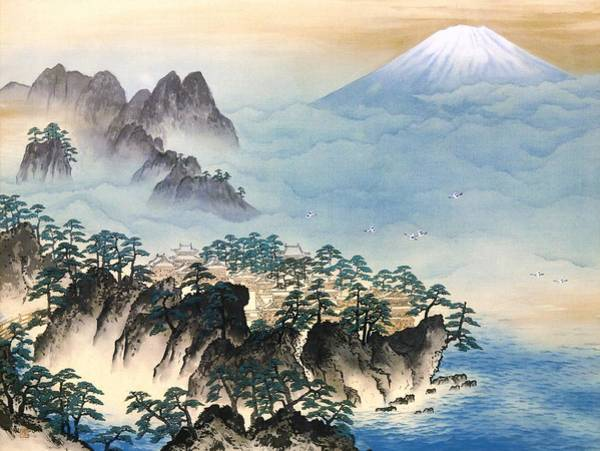 Wall Art - Painting - Mount Fuji - Horaisan - Top Quality Image Edition by Yokoyama Taikan