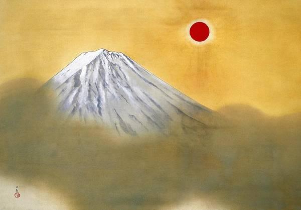 Wall Art - Painting - Mount Fuji - Kenkon Kagayaku - Top Quality Image Edition by Yokoyama Taikan