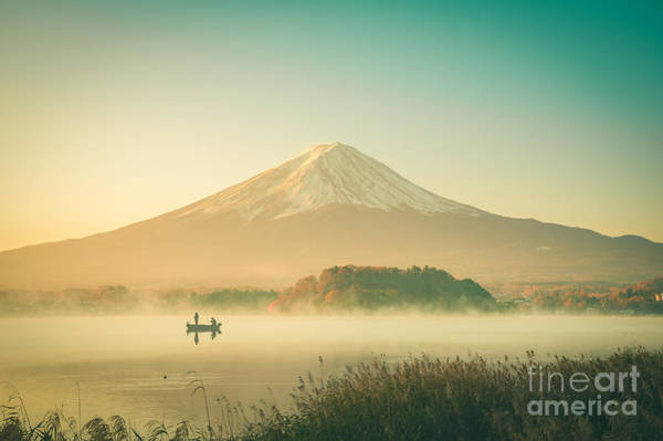 Mt Wall Art - Photograph - Mount Fuji Landscape In Japan Vintage by Focusstocker