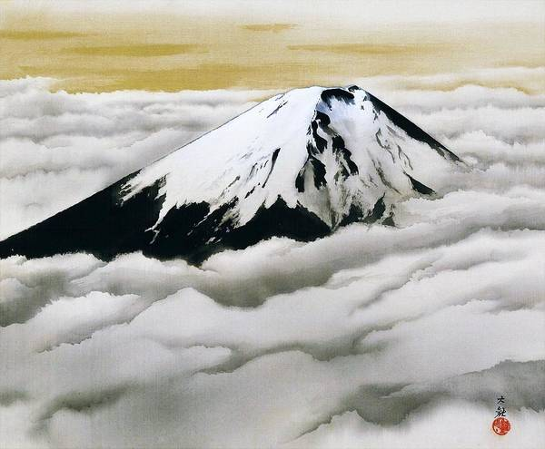 Wall Art - Painting - Mount Fuji - Nippon Shinjin - Top Quality Image Edition by Yokoyama Taikan