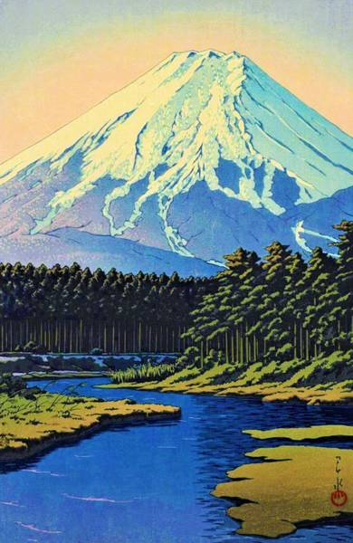Wall Art - Painting - Mount Fuji - Oshino Fuji - Top Quality Image Edition by Kawase Hasui