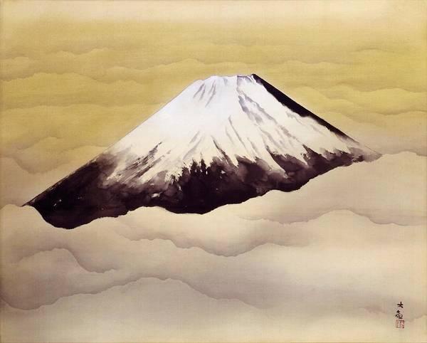 Wall Art - Painting - Mount Fuji - Shinjin - Top Quality Image Edition by Yokoyama Taikan