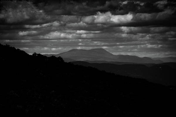 Photograph - Mount Greylock From Mount Race In Black And White by Raymond Salani III