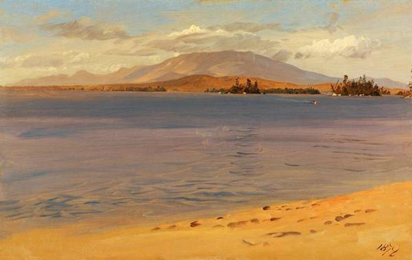 Wall Art - Painting - Mount Katahdin From Lake Millinocket - Digital Remastered Edition by Frederic Edwin Church