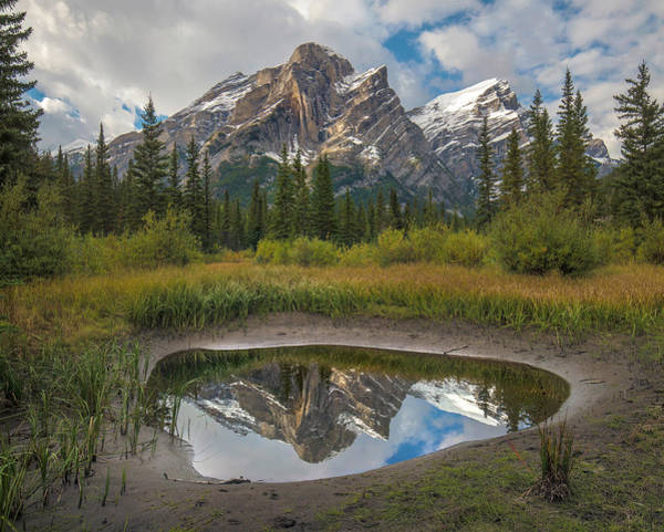 Wall Art - Photograph - Mount Kidd Reflected In Pond by Tim Fitzharris