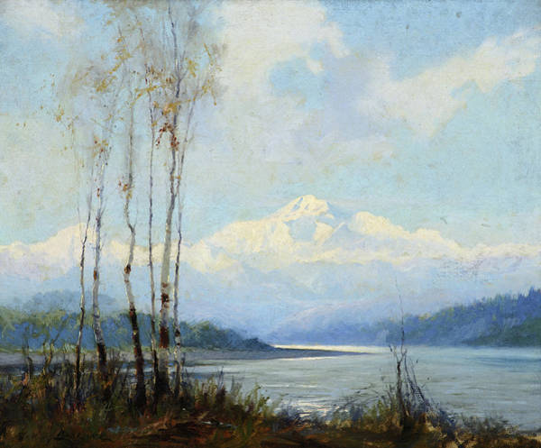 Wall Art - Painting - Mount Mckinley From The Susitna River by Sydney Laurence