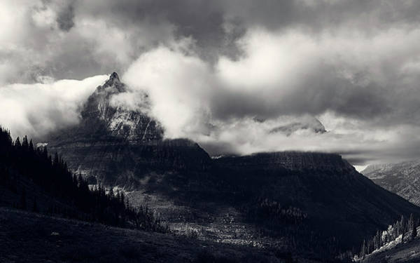 Photograph - Mount Oberlin Cloaked In Clouds by John Hight
