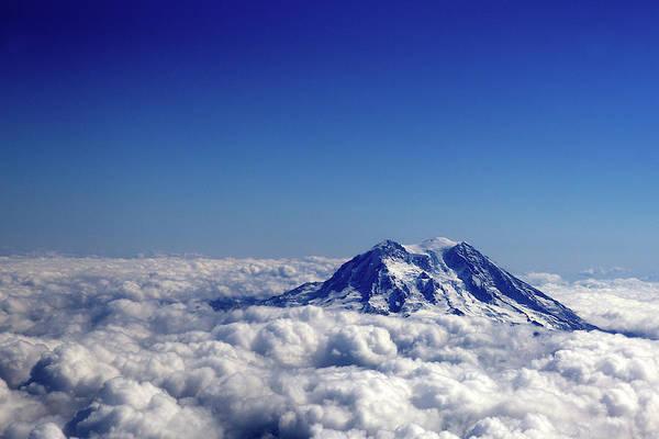 Mount Rainier Aerial Above The Clouds Art Print