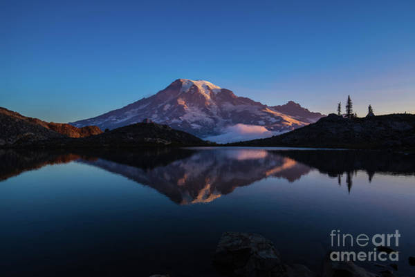 Wall Art - Photograph - Mount Rainier Photography Cool Reflection by Mike Reid