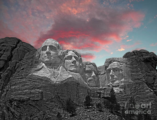 Wall Art - Photograph - Mount Rushmore American Sky by John Stephens