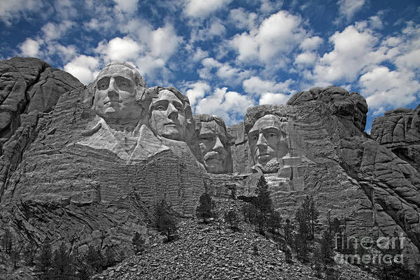 Wall Art - Photograph - Mount Rushmore Cloud Burst by John Stephens