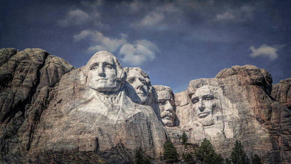 Mounted Photograph - Mount Rushmore I by Tom Mc Nemar