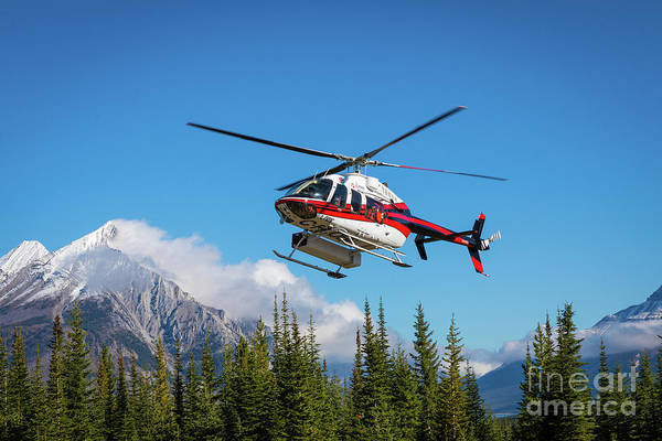 Wall Art - Photograph - Mount Shark Helicopter by Inge Johnsson