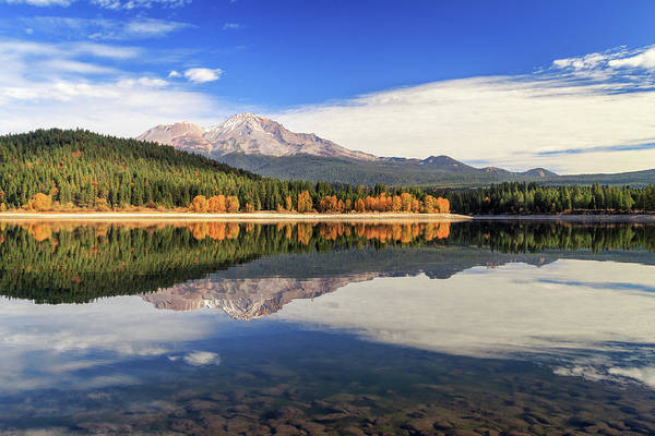 Wall Art - Photograph - Mount Shasta From Lake Siskiyou by James Eddy